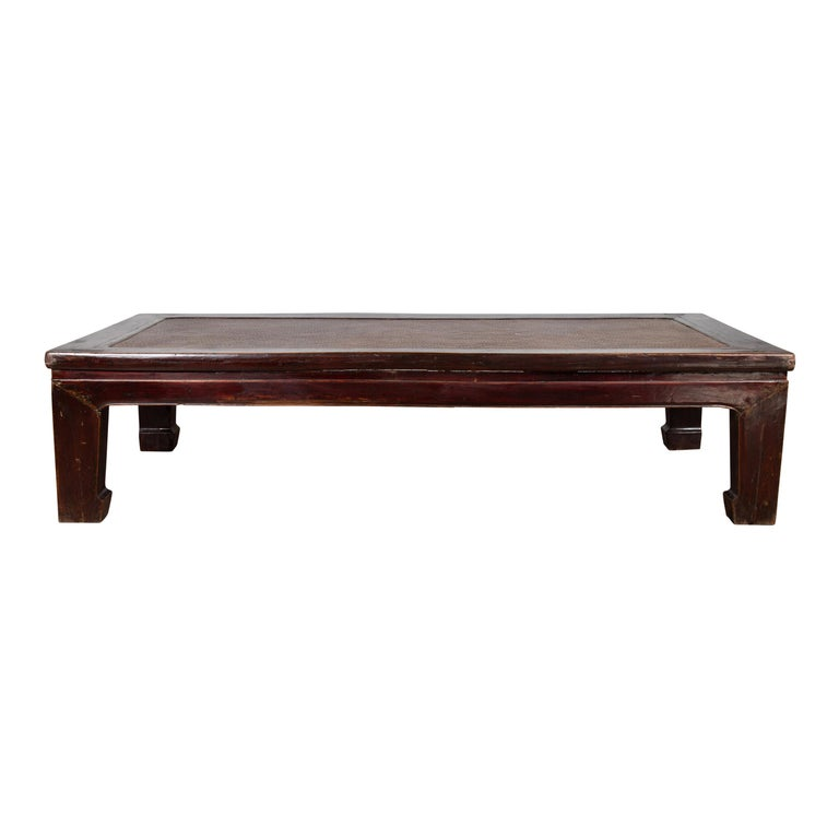 DARK JAPANESE BROWN PATINA STEEL TOP COFFEE TABLE